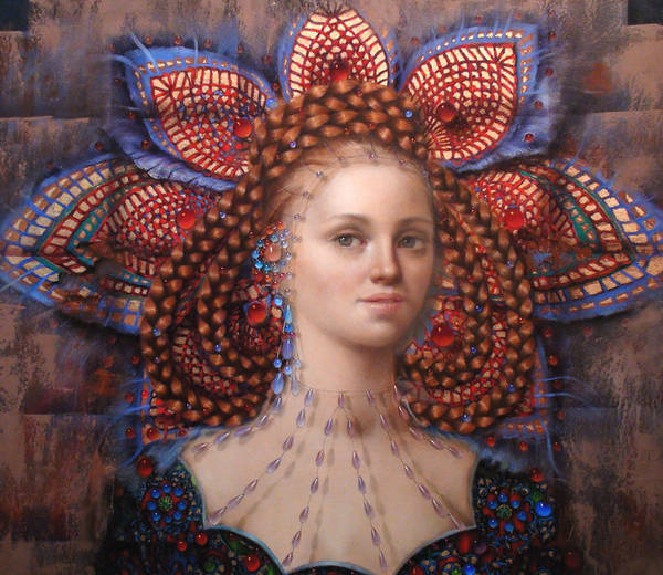 Woman Poster featuring the painting Titania 2 by Loretta Fasan