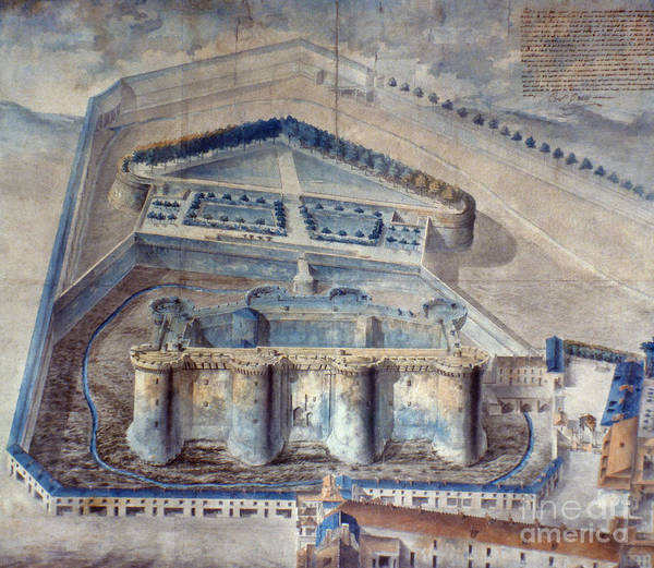 1789 Poster featuring the photograph View Of The Bastille by Granger
