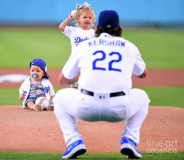 Child Poster featuring the photograph Clayton Kershaw by Harry How