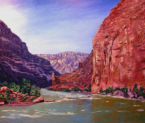 Grand Poster featuring the painting Grand Canyon I by Stan Hamilton