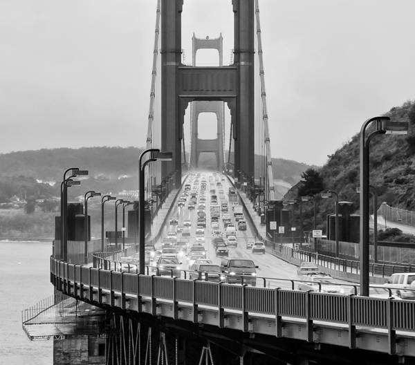 Golden Gate Poster featuring the photograph Rush Hour by Alexis Birkill