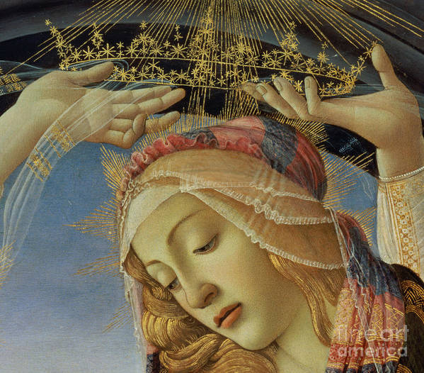 The Poster featuring the painting The Madonna Of The Magnificat by Sandro Botticelli