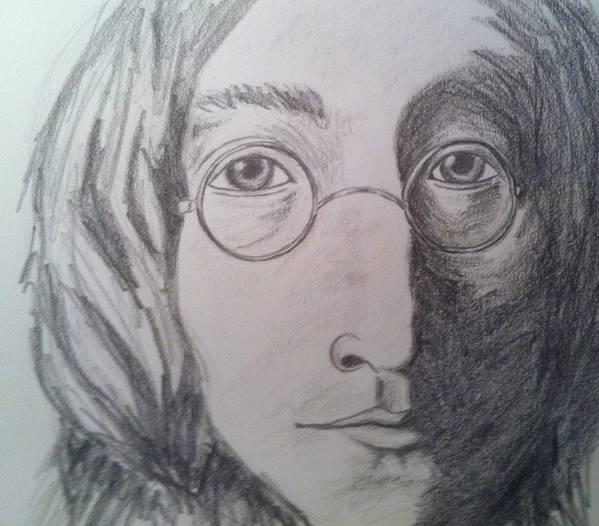 John Lennon Poster featuring the painting Lennon by Stephanie Reid