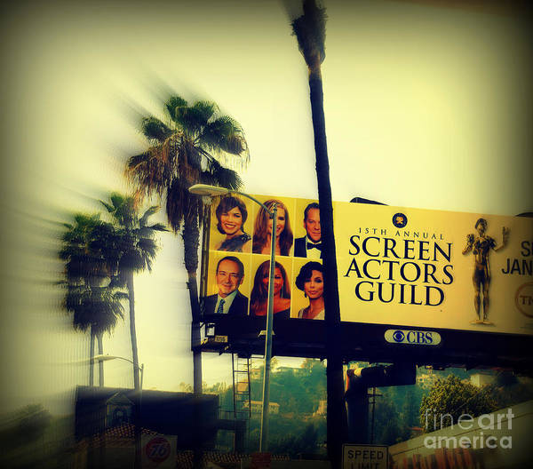 Hollywood Poster featuring the photograph Screen Actors Guild In La by Susanne Van Hulst