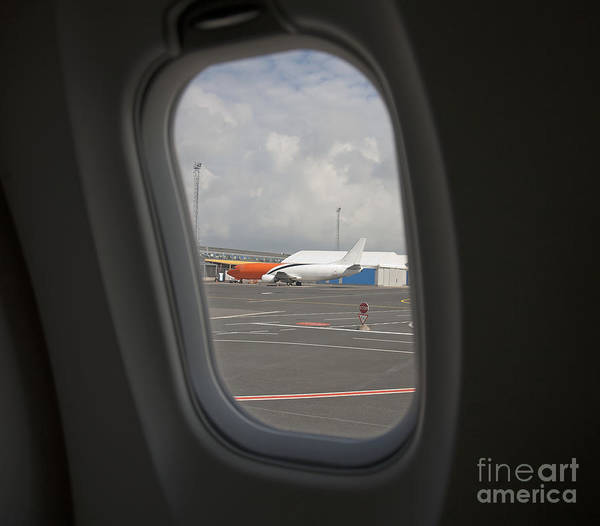 Air Travel Poster featuring the photograph Window View On An Airplane by Jaak Nilson