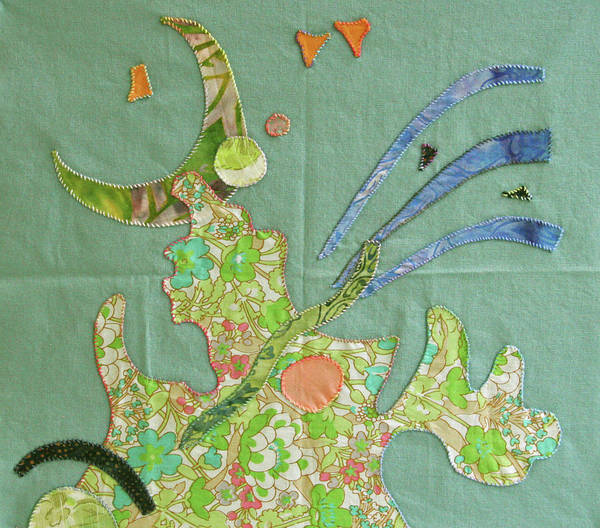 Applique Poster featuring the tapestry - textile Applique 11 by Eileen Hale