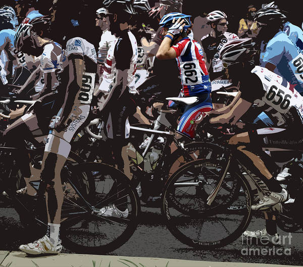 Men Poster featuring the photograph At The Starting Gate by Steven Digman