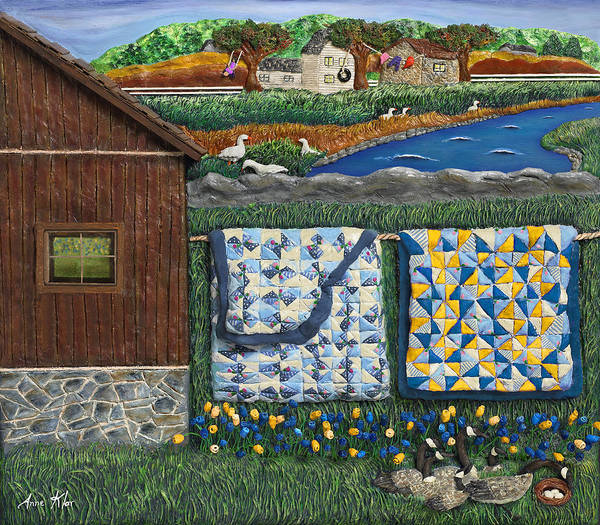 Farm Poster featuring the mixed media Before Now by Anne Klar