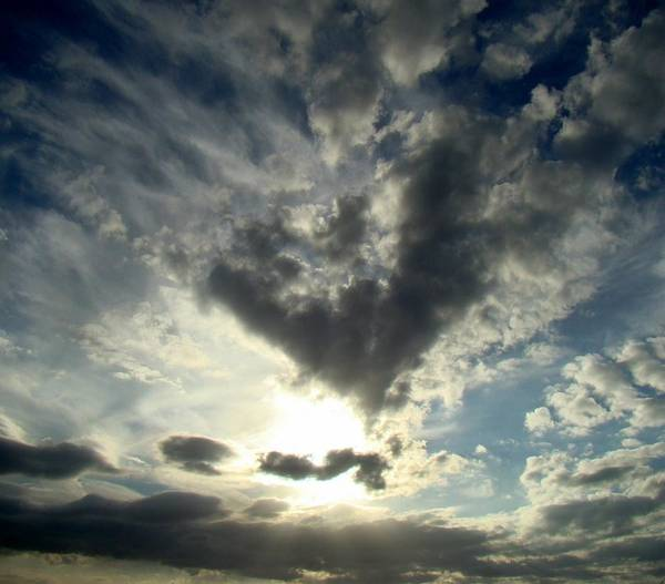 Clouds Poster featuring the photograph Clouds Two by Ana Villaronga