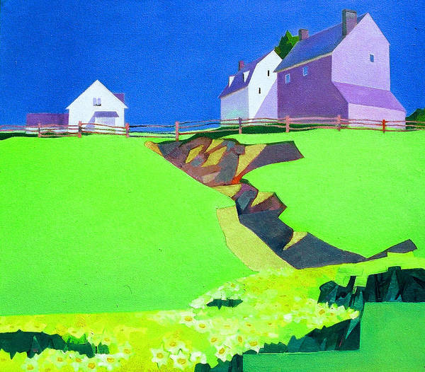 Landscape Poster featuring the painting Farmland by David Soong