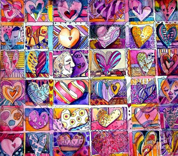 Love Poster featuring the painting Heart 2 Heart by Mindy Newman