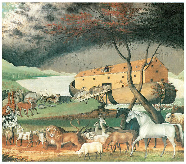Edward Hicks Poster featuring the painting Noah's Ark by Edward Hicks
