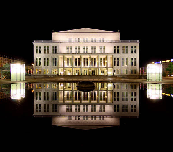 Opera Poster featuring the photograph Opera - Leipzig by Marc Huebner