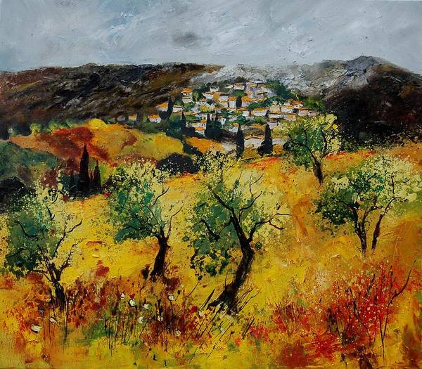 Provence Poster featuring the painting Provence 789080 by Pol Ledent