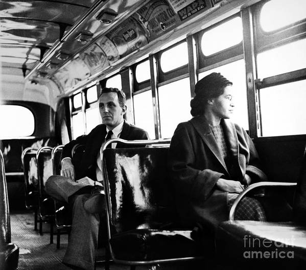 1956 Poster featuring the photograph Rosa Parks (1913-2005) by Granger