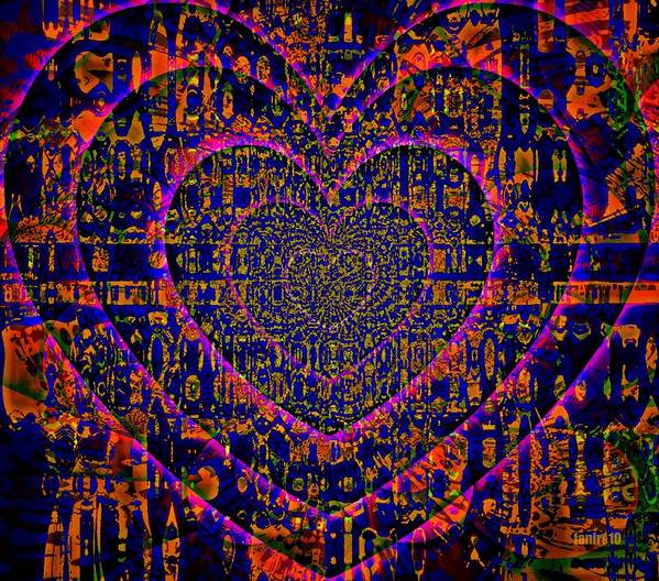 Fania Simon Poster featuring the mixed media Something In The Heart by Fania Simon