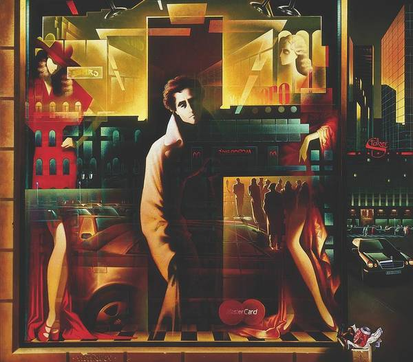 Figures Poster featuring the painting Loneliness by Andrej Vystropov
