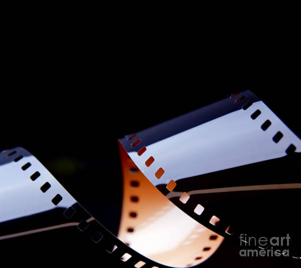 35mm Poster featuring the photograph Film Strip Abstract by Tim Hester