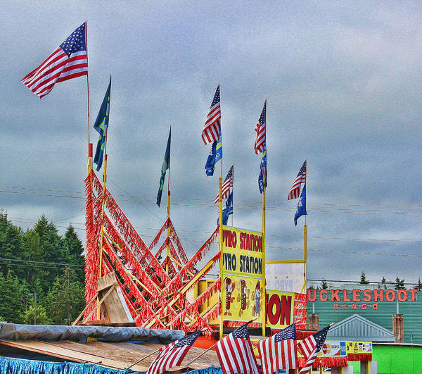 Fireworks Stand Poster featuring the photograph Fireworks Stand by Cathy Anderson