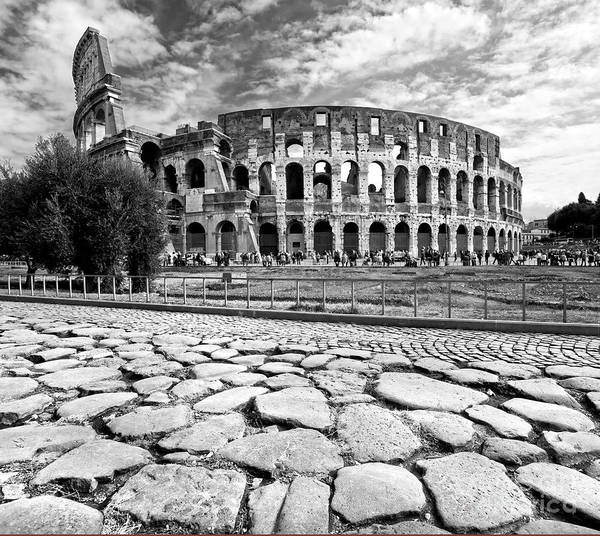 Column Poster featuring the photograph The Majestic Coliseum - Rome by Luciano Mortula