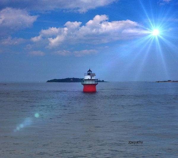 Lighthouse Poster featuring the photograph Bug Light In Plymouth Ma by Janet Depathy