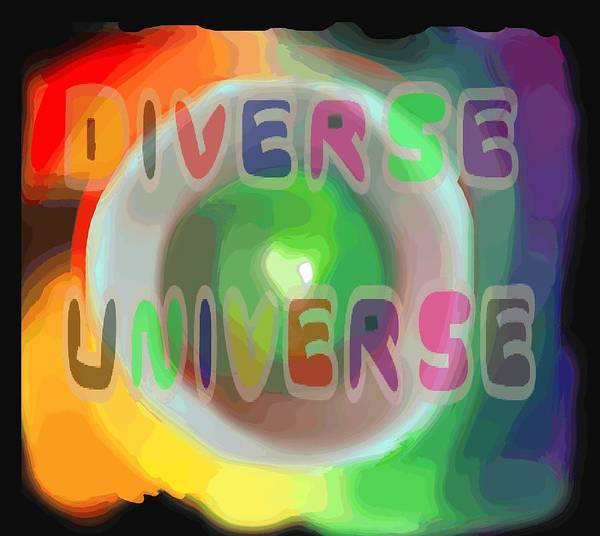 Diverse Poster featuring the painting Diverse Universe by Pharris Art