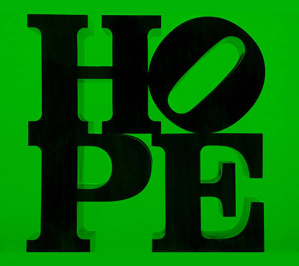 Hope Poster featuring the photograph Hope In Green by Rob Hans