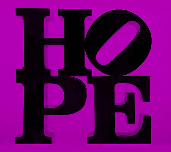 Hope Poster featuring the photograph Hope In Purple by Rob Hans