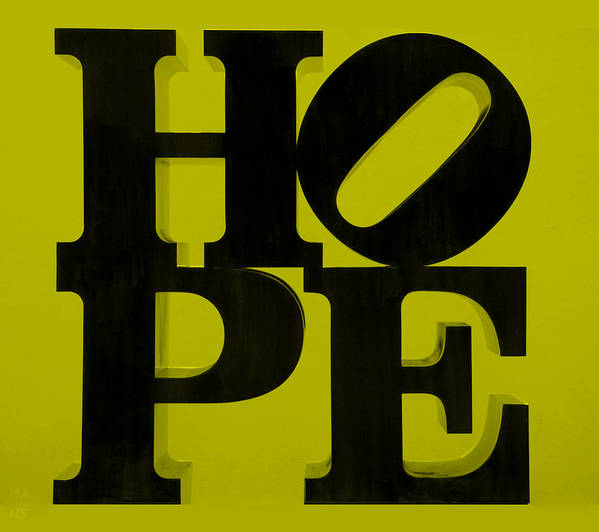 Hope Poster featuring the photograph Hope In Yellow by Rob Hans