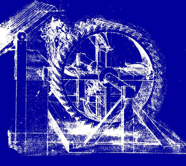 Leonardo Da Vinci Poster featuring the drawing Leonardo Machine Blueprint by