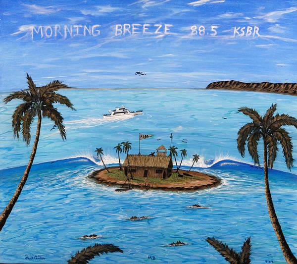 Radiostation Prints Poster featuring the painting Morning Breeze Cruise by Paul Carter