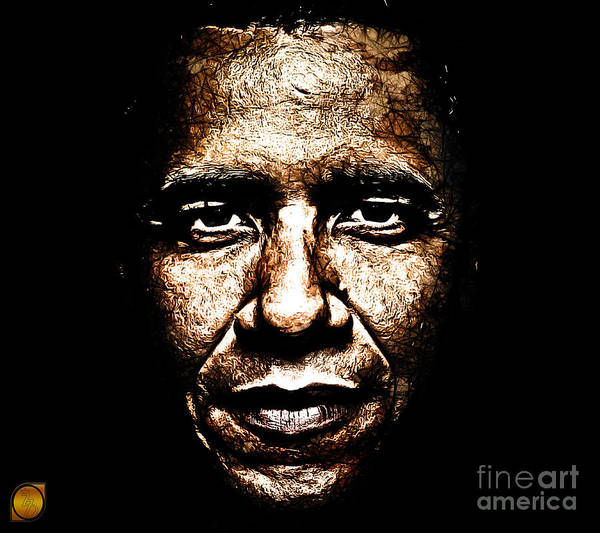 Barack Obama Poster featuring the digital art The President by The DigArtisT