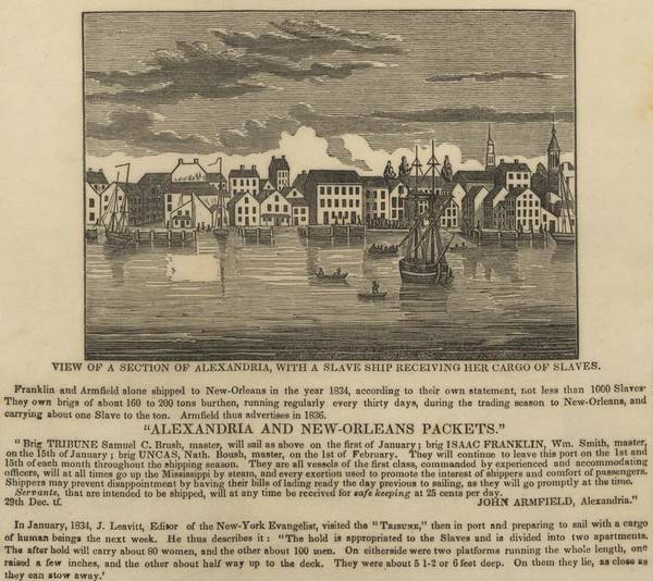 History Poster featuring the photograph A Ship Of Slaves In 1836 Leaving by Everett