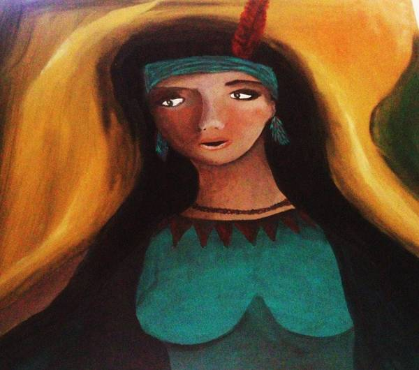 Nature Poster featuring the painting Indian Girlfriend by Vickie Meza