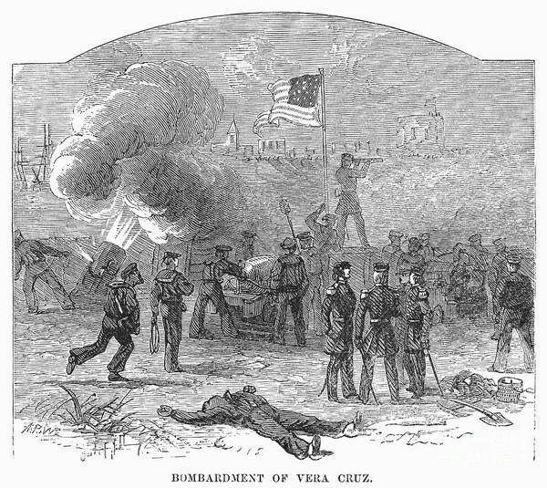 1847 Poster featuring the photograph Mexican War: Vera Cruz by Granger