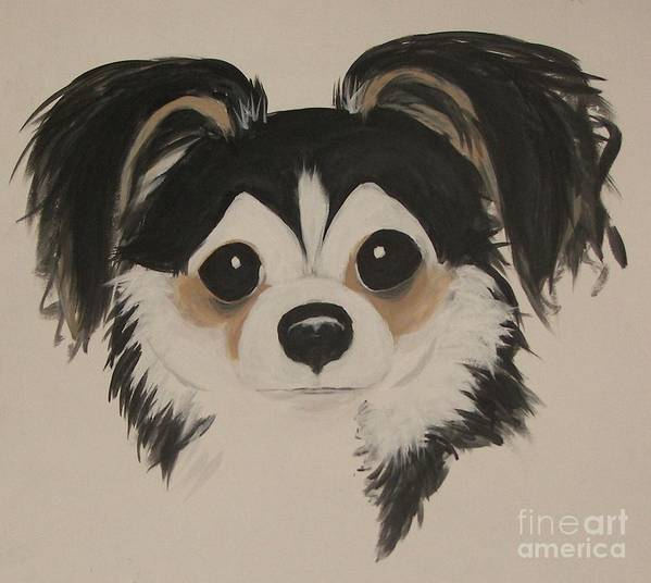 Pets Poster featuring the painting My Boy Schnapps by Rachel Carmichael