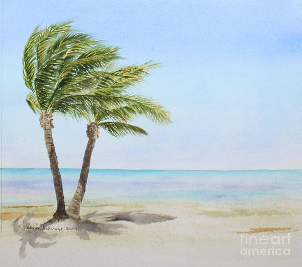 Palm Poster featuring the painting Palms by Grace Ashcraft