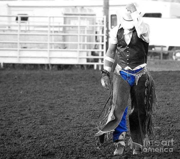 B&w Poster featuring the photograph The Cowboy II by Billie-Jo Miller
