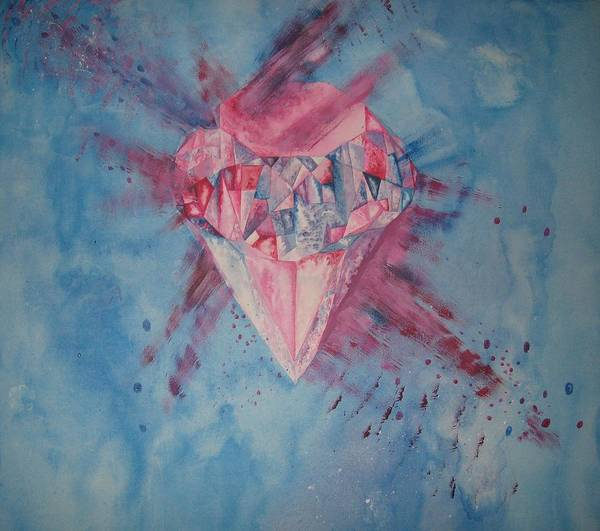 Diamond Poster featuring the painting Blood Diamond by Theodora Dimitrijevic