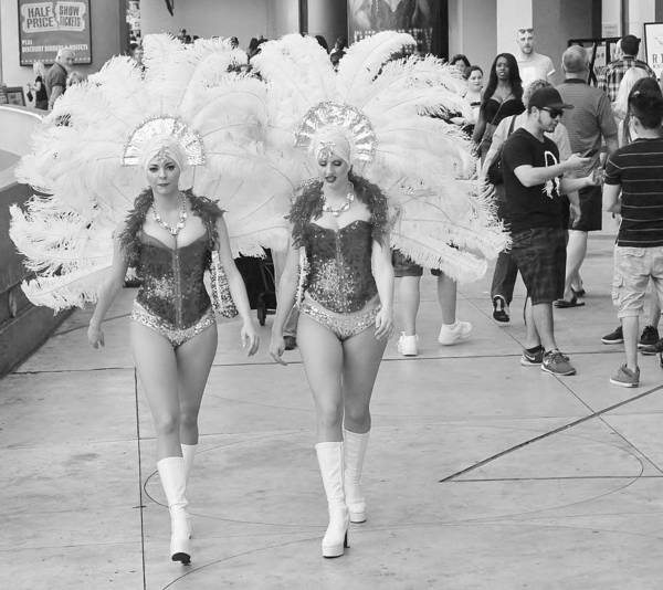 Las Vegas Showgirls Poster featuring the photograph Everyday Showgirls by Valerie Brown