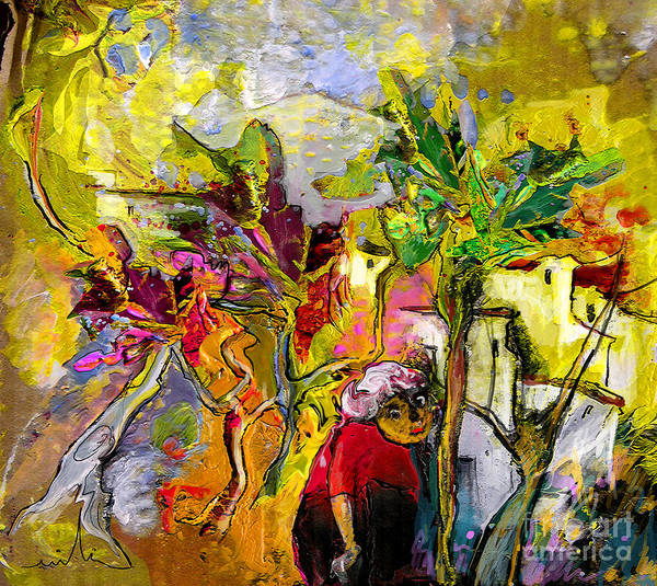 Landscape Painting Poster featuring the painting La Provence 05 by Miki De Goodaboom