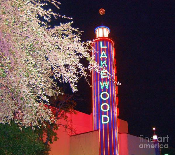 Theater Poster featuring the photograph Lakewood Theater by Debbi Granruth
