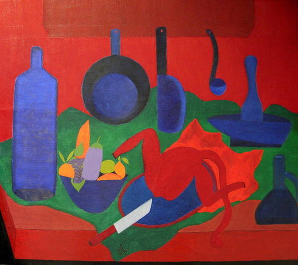 Still Life Poster featuring the painting No. 319 by Vijayan Kannampilly