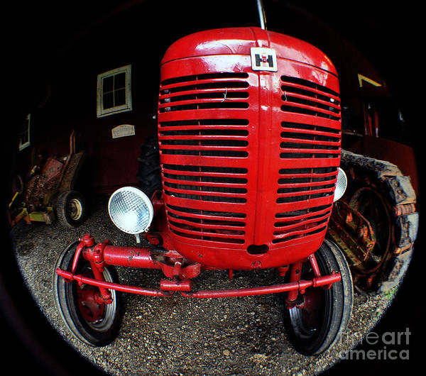 Clay Poster featuring the photograph Old International Harvester Tractor by Clayton Bruster