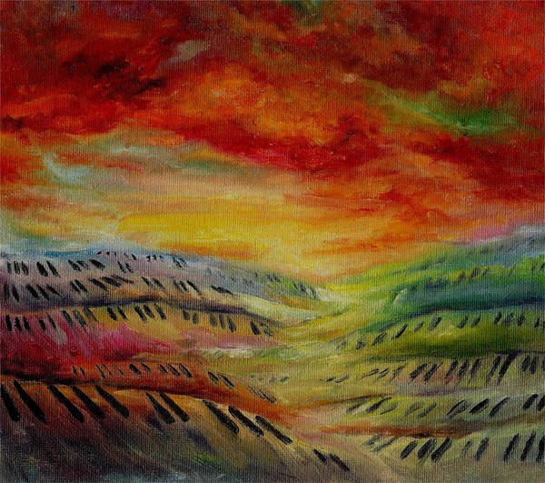 Surreal Music Poster featuring the painting Piano Key Dusk by Stephanie Cox