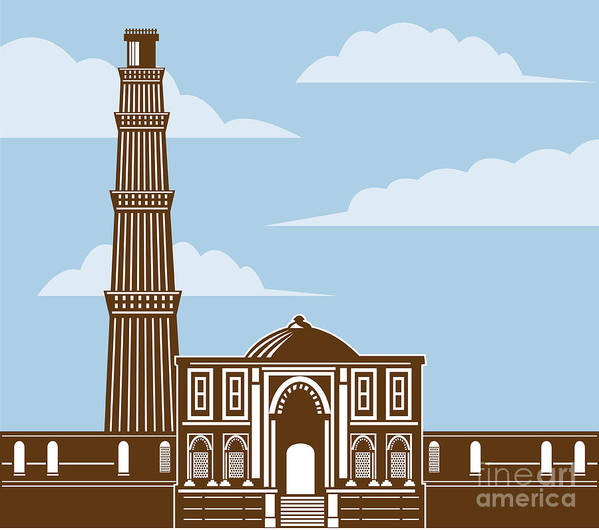 Easy Drawing Of Qutub Minar Step By Step