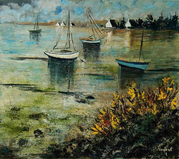 Seascape Poster featuring the print Seascape 78 by Pol Ledent