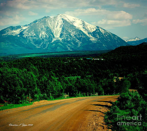 Mt. Sopris Poster featuring the photograph Sopris I by Christine S Zipps