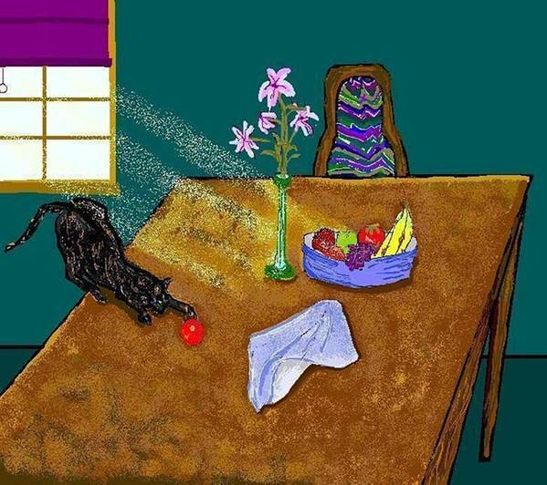 Cats Poster featuring the digital art Still Life by Carole Boyd