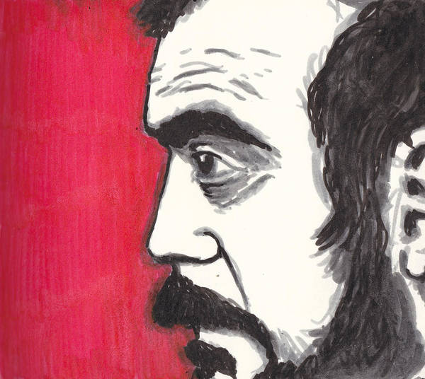 Kubrick Poster featuring the drawing The Perfectionist by Jim Valentine